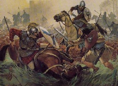 [Romano-Britons fighting Picts]