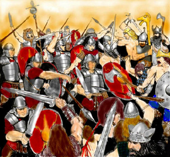[Celts fighting Romans]