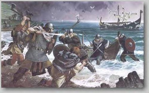 [Vikings battle Irish]