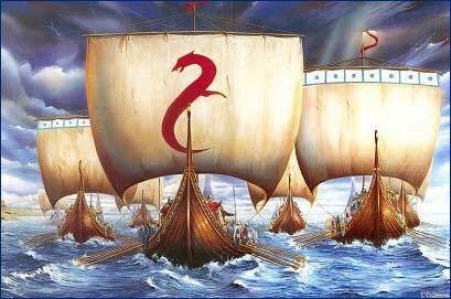 [Viking longships]