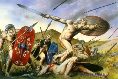 [Early Celts often fought naked]