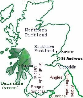 [Map of Dalriada and Pictland]