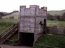 [Reconstruction of fort on Hardians' Wall]